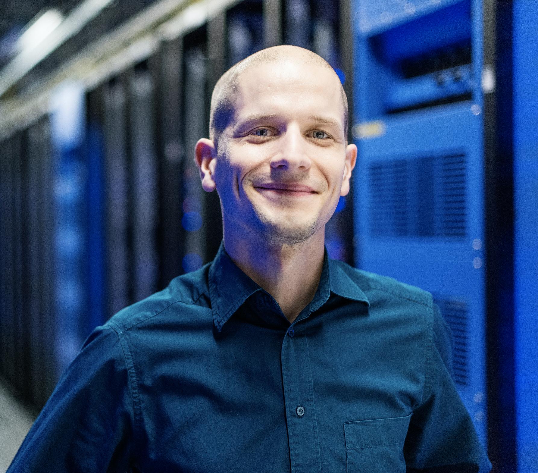 Joel Kjellgren, Site Operations Data Center Director,at Facebook's data centre in Luleå